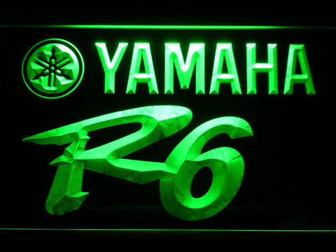 Image of Yamaha R6 LED Neon Sign - Green - SafeSpecial