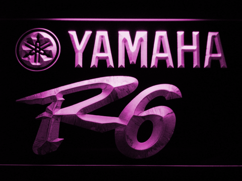 Image of Yamaha R6 LED Neon Sign - Purple - SafeSpecial
