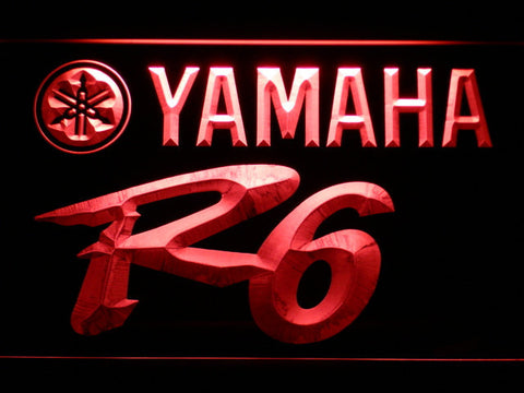 Image of Yamaha R6 LED Neon Sign - Red - SafeSpecial