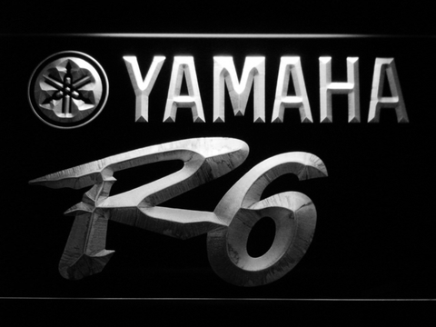Image of Yamaha R6 LED Neon Sign - White - SafeSpecial