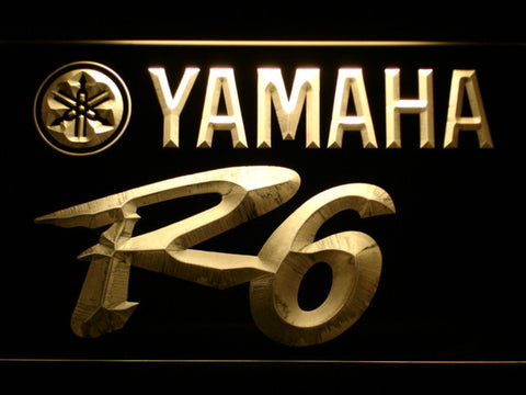 Image of Yamaha R6 LED Neon Sign - Yellow - SafeSpecial