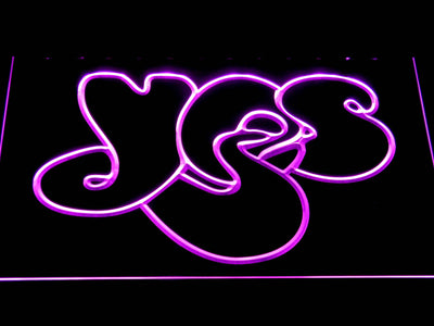 Yes LED Neon Sign - Purple - SafeSpecial