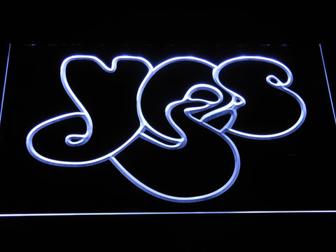 Yes LED Neon Sign - White - SafeSpecial
