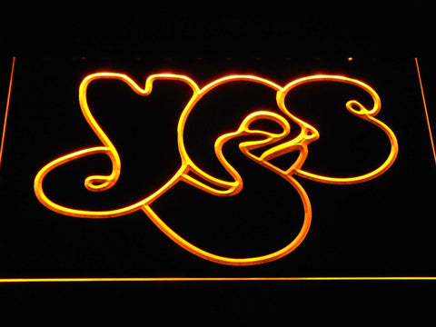 Yes LED Neon Sign - Yellow - SafeSpecial