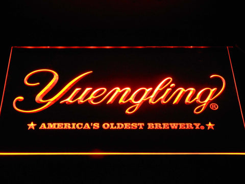 Image of Yuengling America's Oldest Brewery LED Neon Sign - Orange - SafeSpecial