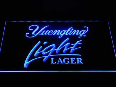 Yuengling Light Lager LED Neon Sign - Blue - SafeSpecial