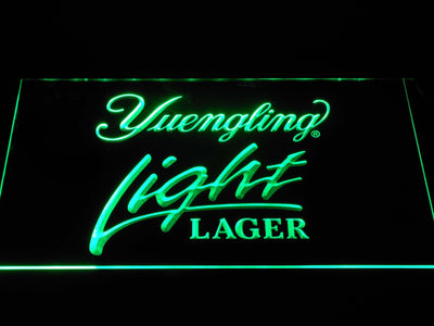 Yuengling Light Lager LED Neon Sign - Green - SafeSpecial