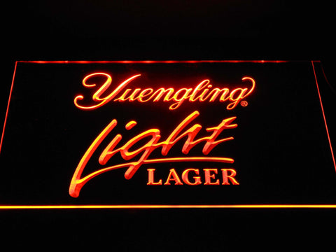 Image of Yuengling Light Lager LED Neon Sign - Orange - SafeSpecial