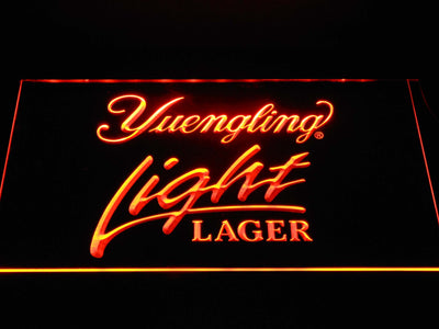 Yuengling Light Lager LED Neon Sign - Orange - SafeSpecial