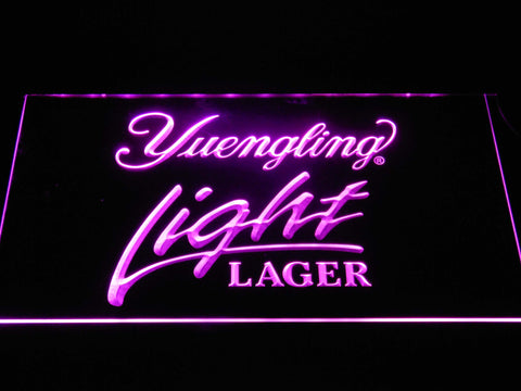 Image of Yuengling Light Lager LED Neon Sign - Purple - SafeSpecial