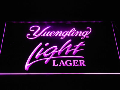 Yuengling Light Lager LED Neon Sign - Purple - SafeSpecial