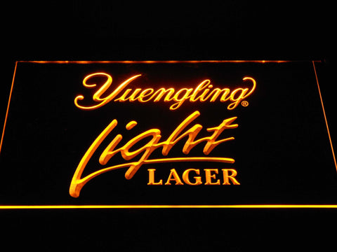 Image of Yuengling Light Lager LED Neon Sign - Yellow - SafeSpecial