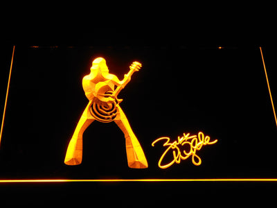 Zakk Wylde Silhouette LED Neon Sign - Yellow - SafeSpecial