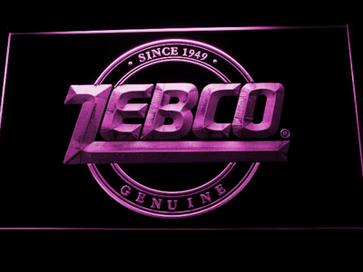 Zebco LED Neon Sign - Purple - SafeSpecial
