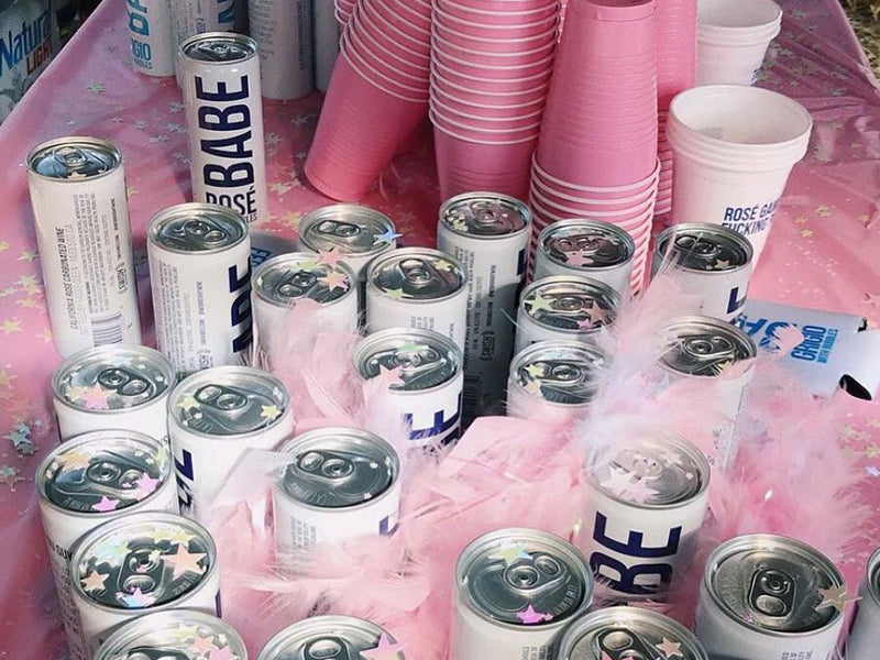 Wild Raunchy Bachelorette Party Ideas Canned Wine Canned Rosé Drink Babe