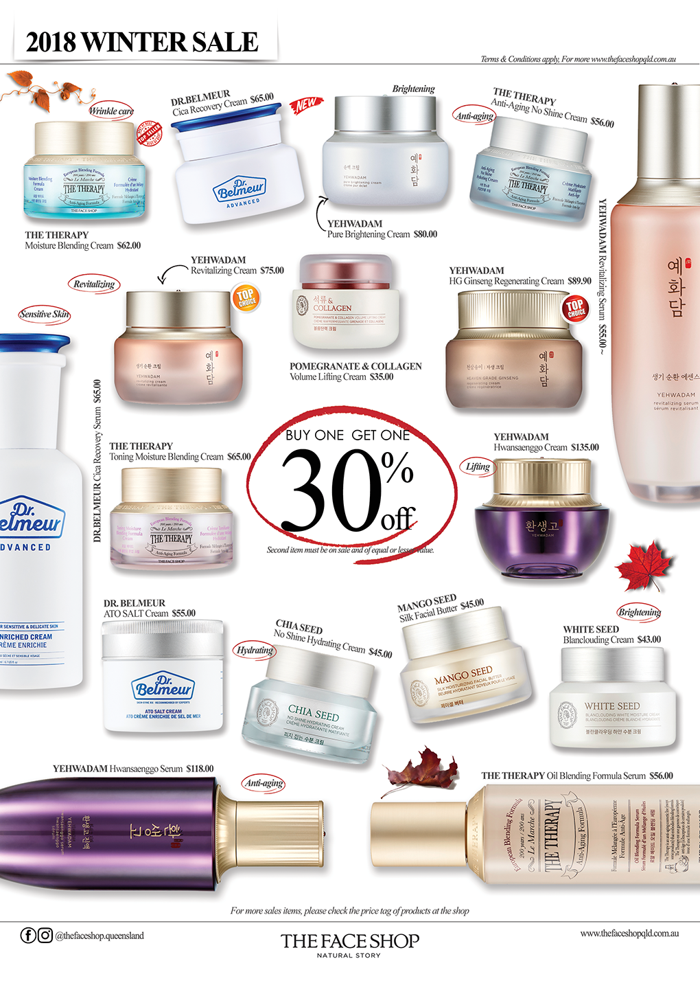 thefaceshop winte rsale