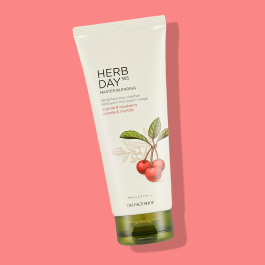 THEFACESHOP HERB DAY 365 MASTER BLENDING FACIAL FOAMING CLEANSER Acerola & Blueberry - THEFACESHOP Australia