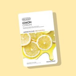 THEFACESHOP REAL NATURE Face Mask Lemon - THEFACESHOP Australia