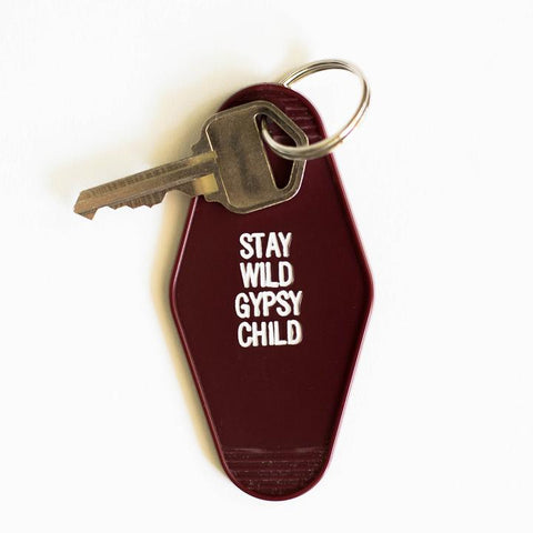 Stay Wild Gypsy Child Key Tag