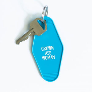 Grown Ass Woman Key Tag