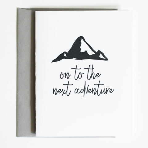 Card: On to the next adventure