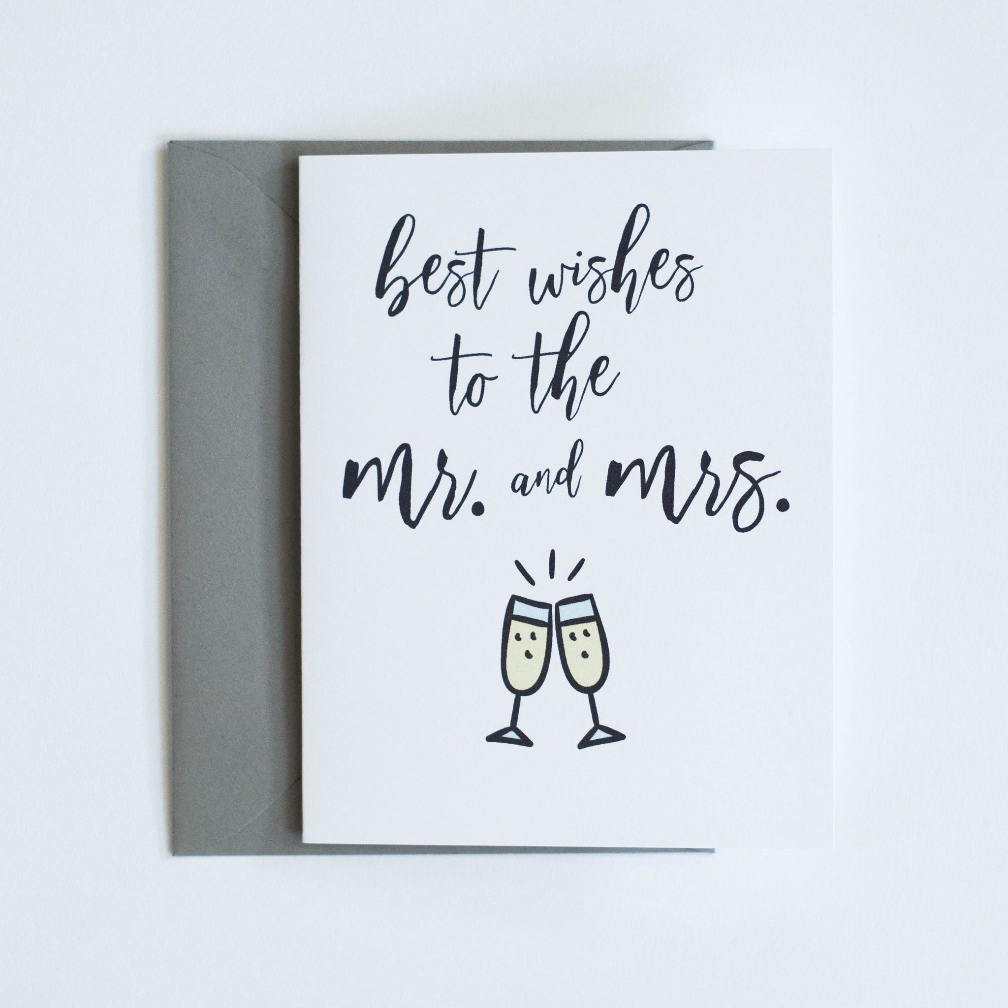 Card: Best wishes to the Mr & Mrs