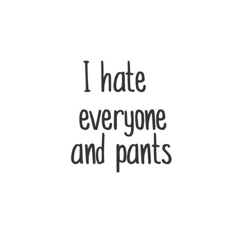 Magnet: I hate everyone and pants