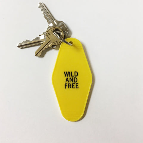 Wild and Free Key Tag