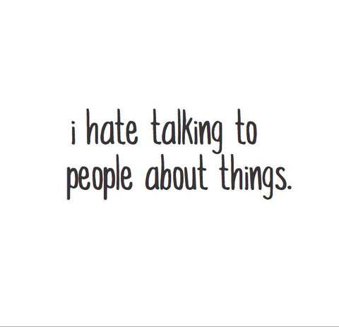 Magnet: I hate talking to people about things