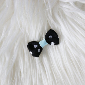 Fabric Hair Bow Duo - Polka Party (2-pack)