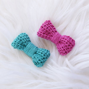 Crochet Bow Duo (2-pack)