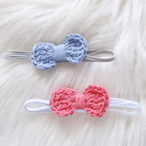Mini Crochet Bows Headband Duo (2-pack)