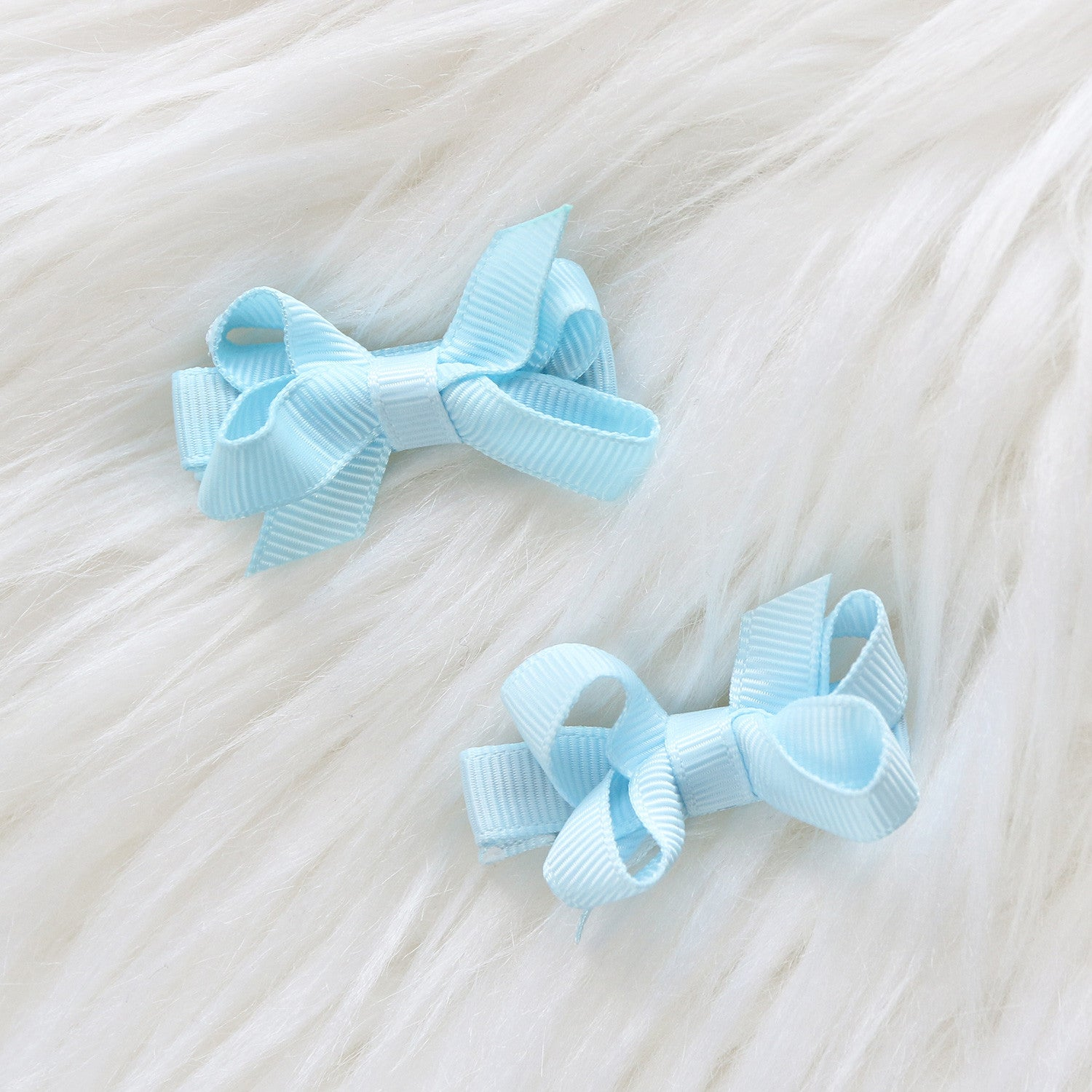Mini Grosgrain Hair clips - (2- Pack & Single Pack)