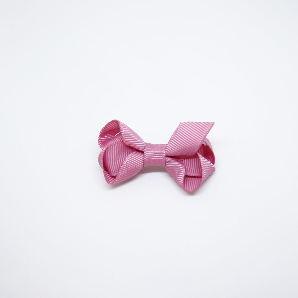 Mini Grosgrain — Pink / Single Clip