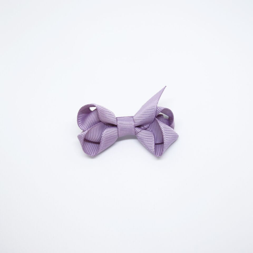 Mini Grosgrain — Lilac / Single Clip