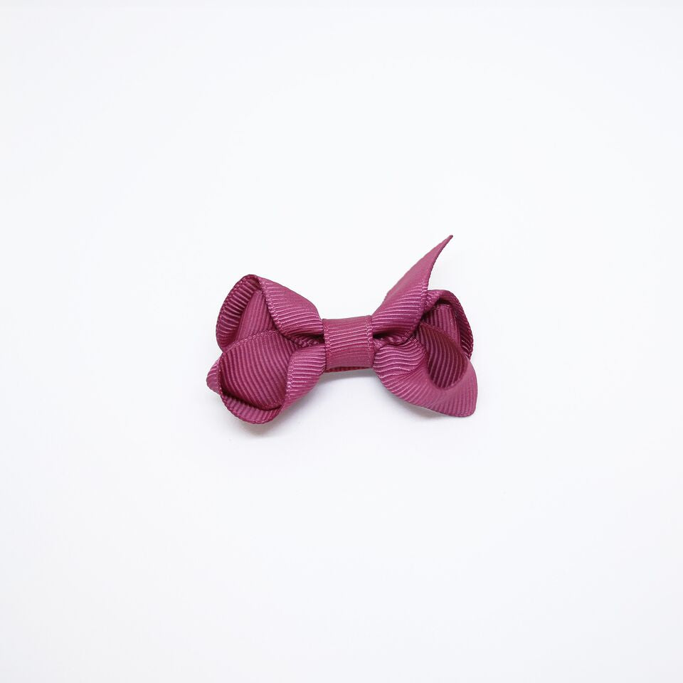 Mini Grosgrain — Violet / Single Clip