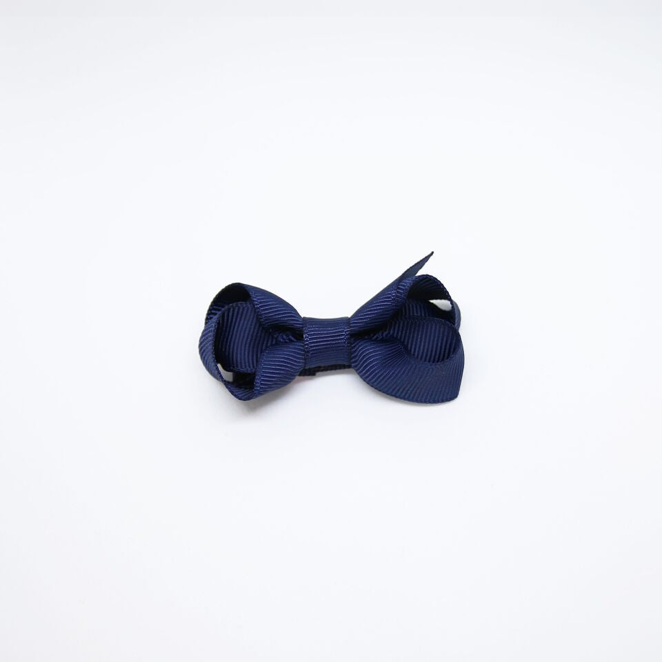 Mini Grosgrain — Navy / Single Clip