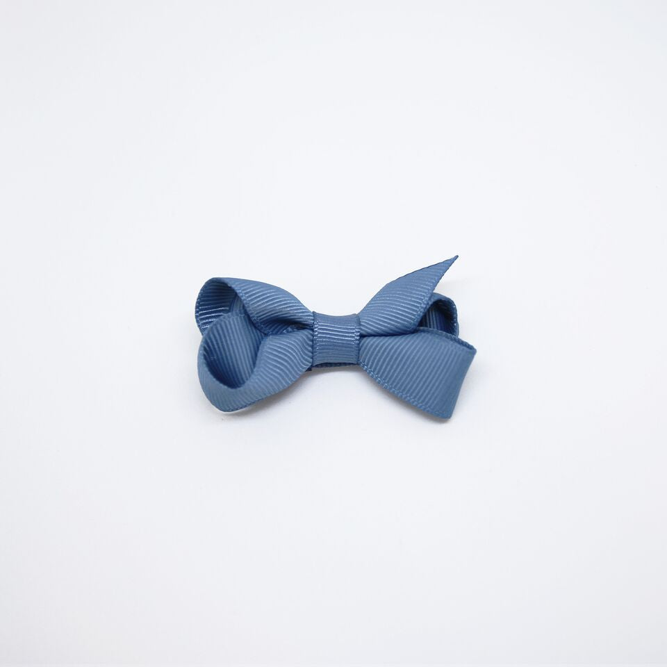 Mini Grosgrain — Winter Blue / Single Clip