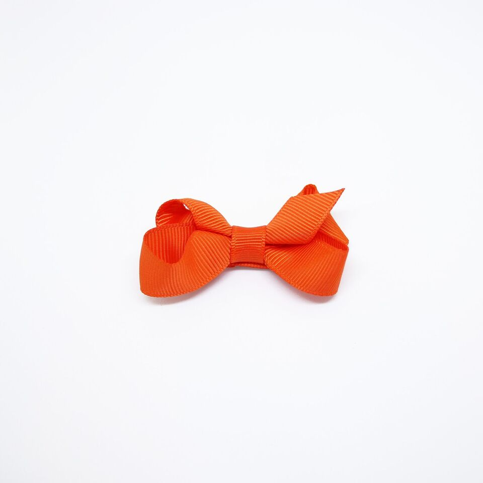 Mini Grosgrain — Orange / Single Clip