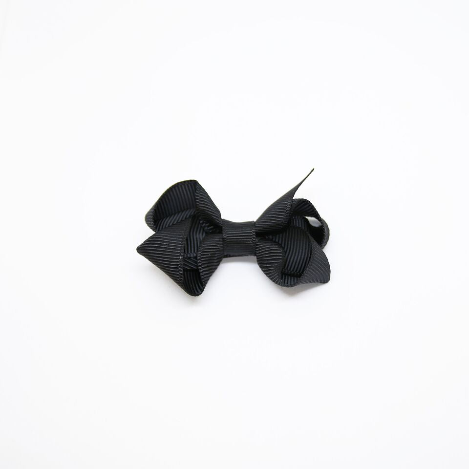 Mini Grosgrain — Black / Single Clip