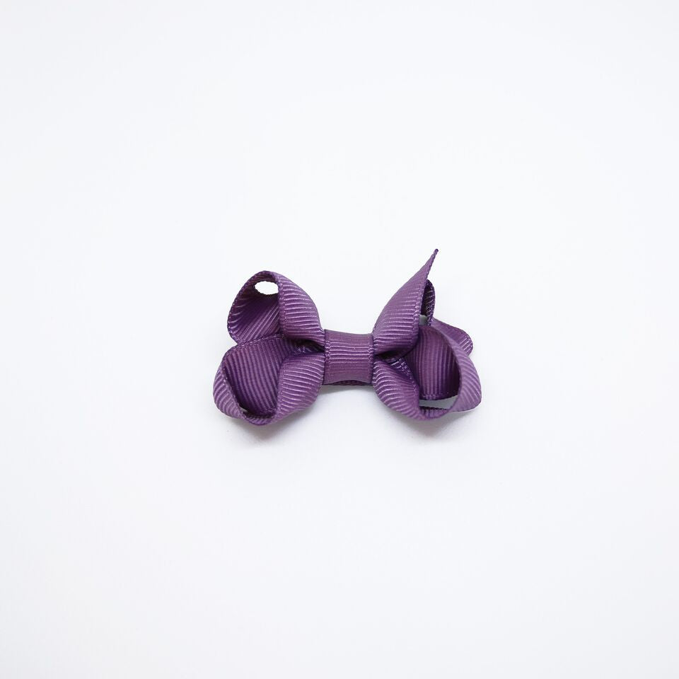 Mini Grosgrain — Purple / Single Clip