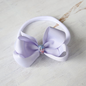 Lilac Mist Grosgrain Bow with Clip or Headband (Single)