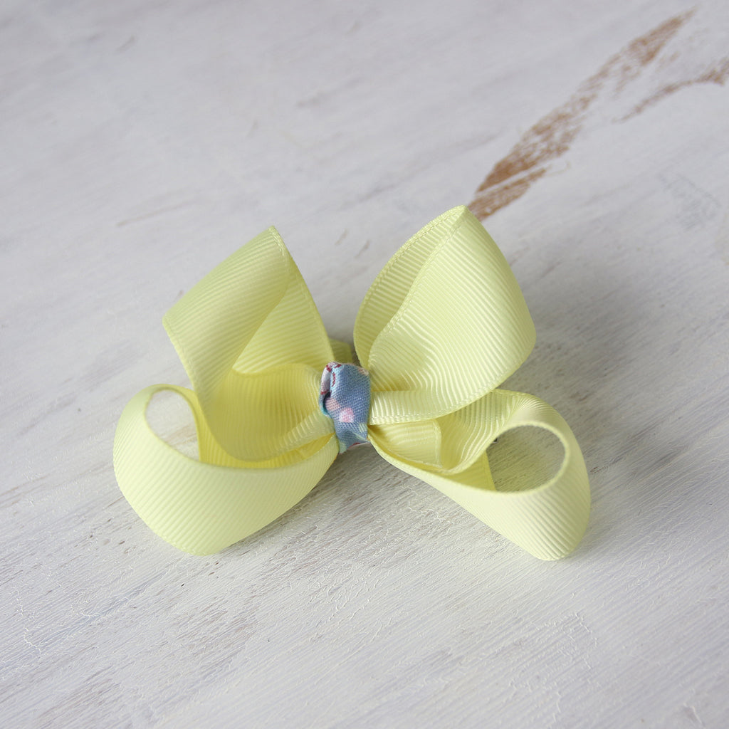 Baby Maize Grosgrain Bow with Clip or Headband (Single)