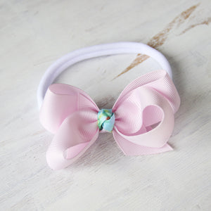 Icy Pink Grosgrain Bow with Clip or Headband (Single)
