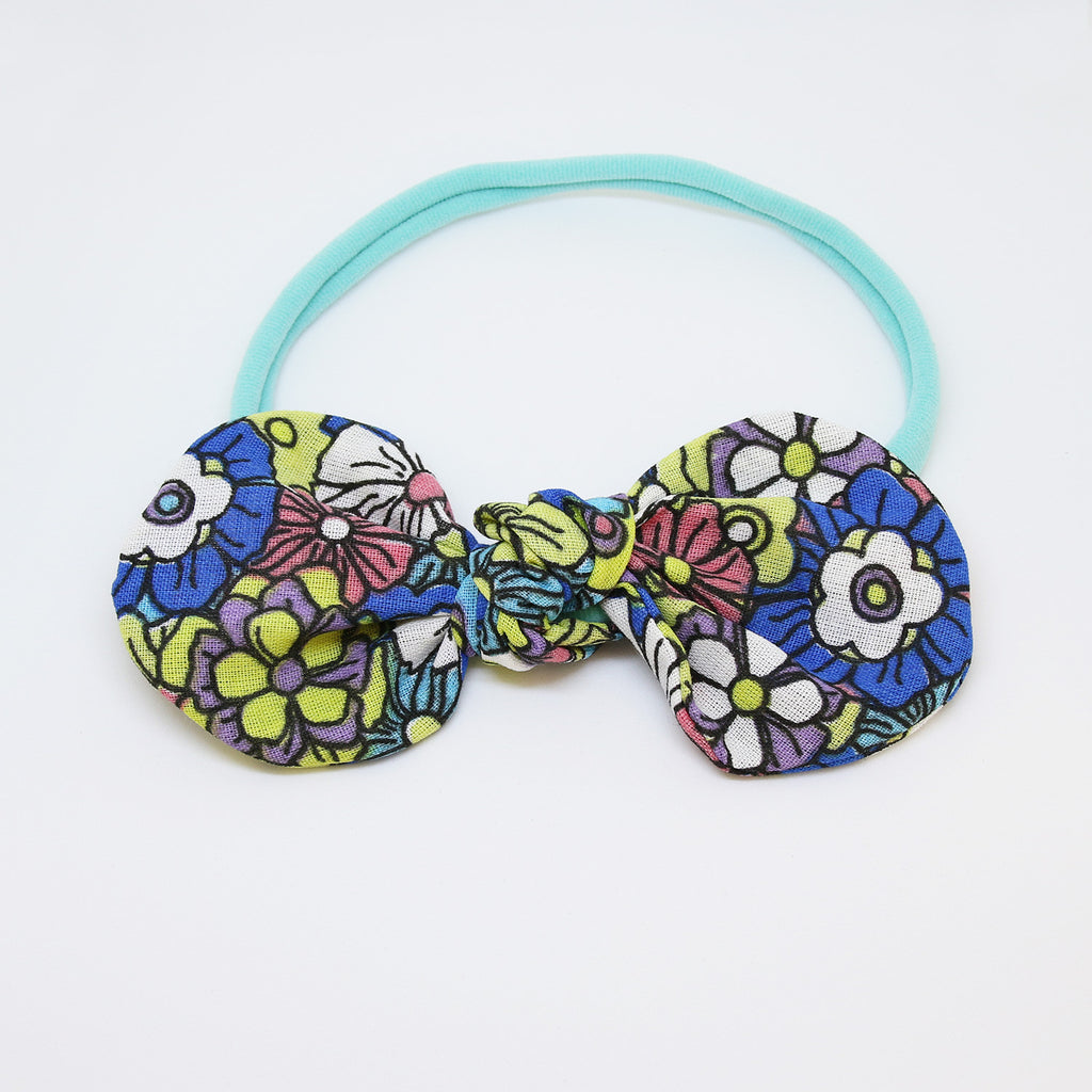 'Spring in Lapa' Chita TopKnot Bow - Large
