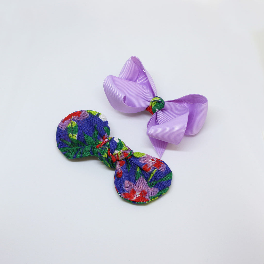 'Rua Das Flores' Chita Knot Bow - Double Pack