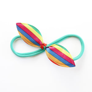 Party Clown Rabbit Ear Knot with Aqua Green Headband - Single Pack