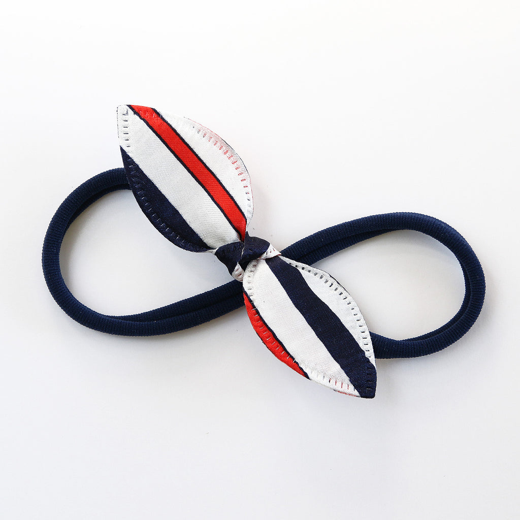 Bonjour Rabbit Ear Knot with Navy Headband - Single Pack