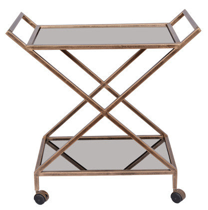 BAR CART - Antique Gold