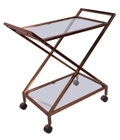 BAR CART - Copper Leaf